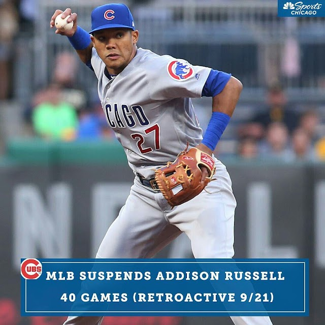 MLB Suspends Cubs shortstop Addison Russell