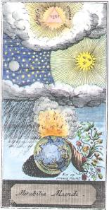 Engraving One From Johannes De Maldini Mirabilia Mundi 1754, Alchemical And Hermetic Emblems 1