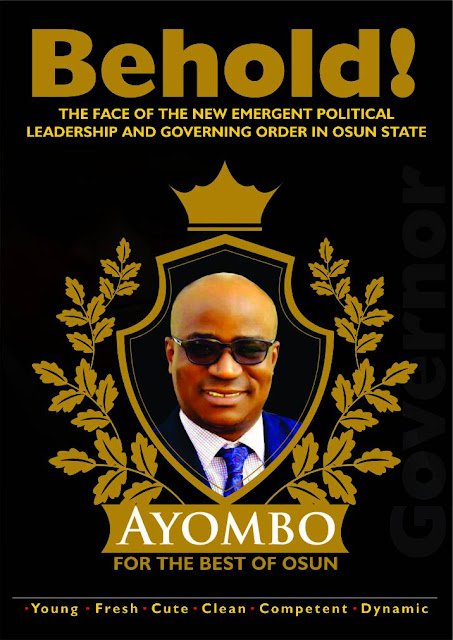 Osun 2018: *Why Ayoade Adewopo Is The Right,  Best Man For The Job*
