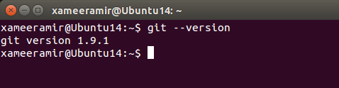 Checking git version on Ubuntu