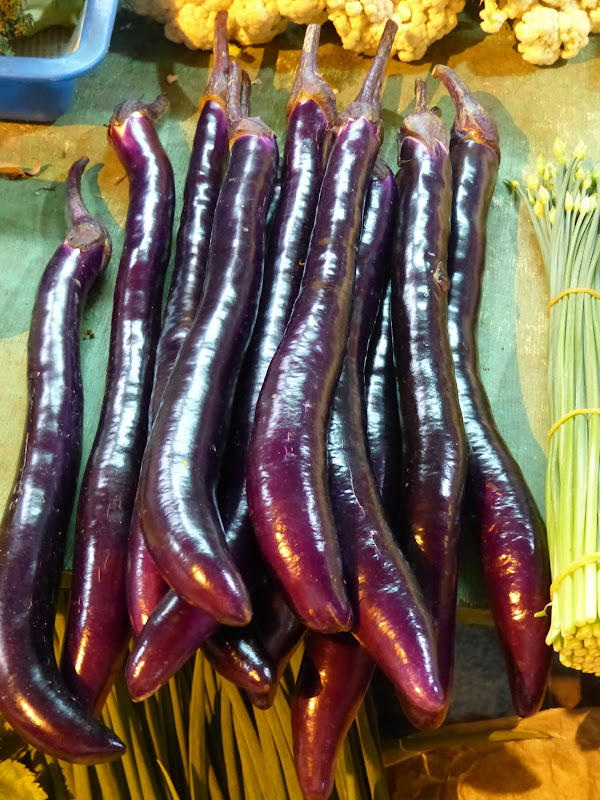 Les aubergines taiwanaises, un regal