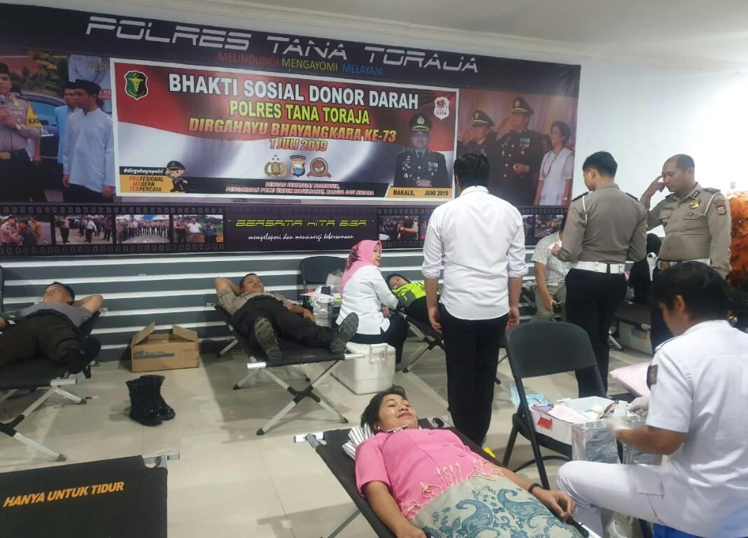 Aksi Donor Darah Polres Tana Toraja, Kompol Jacob: Sehatnya Dapat, Pengabdiannya Nyata