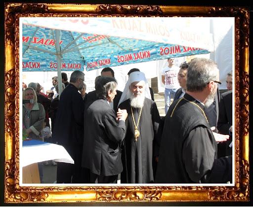 Његова светост патријарх Иринеј и моја маленкост у разговору
