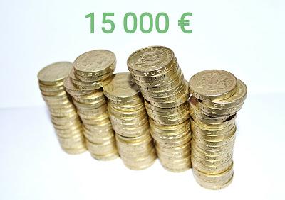 Osinkotulot 15000 euroa