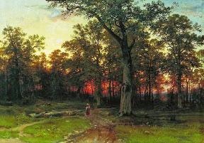 Лес вечером.1868-1869 год.jpg