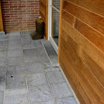 Patio made of Classico Bocq Brut (sawn)