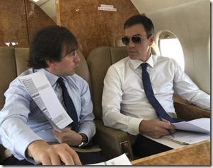Pedro Sánchez a bordo