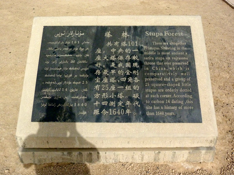 XINJIANG.  Turpan. Ancient city of Jiaohe, Flaming Mountains, Karez, Bezelik Thousand Budda caves - P1270800.JPG