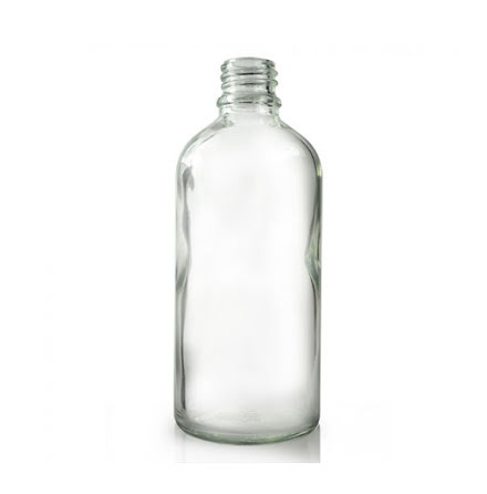 Glasflaska 100 ml - klar