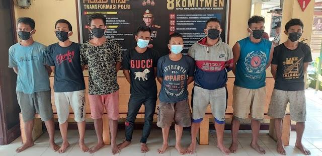 Kapolsek Serbelawan Pimpin Penangkapan Delapan Pencuri Kabel PLN