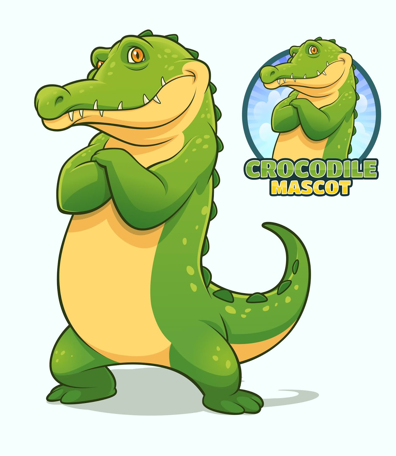 Crocodile Mascot Design.jpg Free Download Vector CDR, AI, EPS and PNG Formats