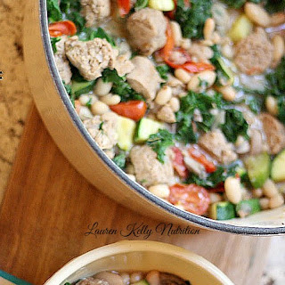 White Bean Kale and Sausage Stew.