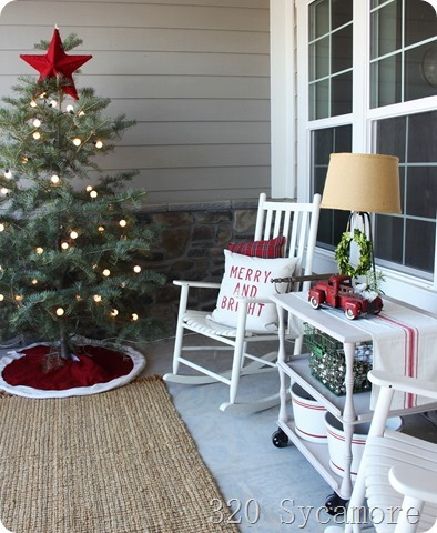 christmas porch chairs