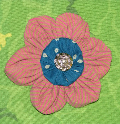 Recycle/Upcycle a T-shirt to a flower