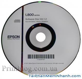 tải và cài đặt epson l800 printer driver