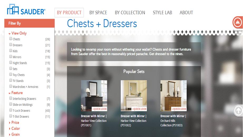 Sauder Website - Made in the USA Furniture