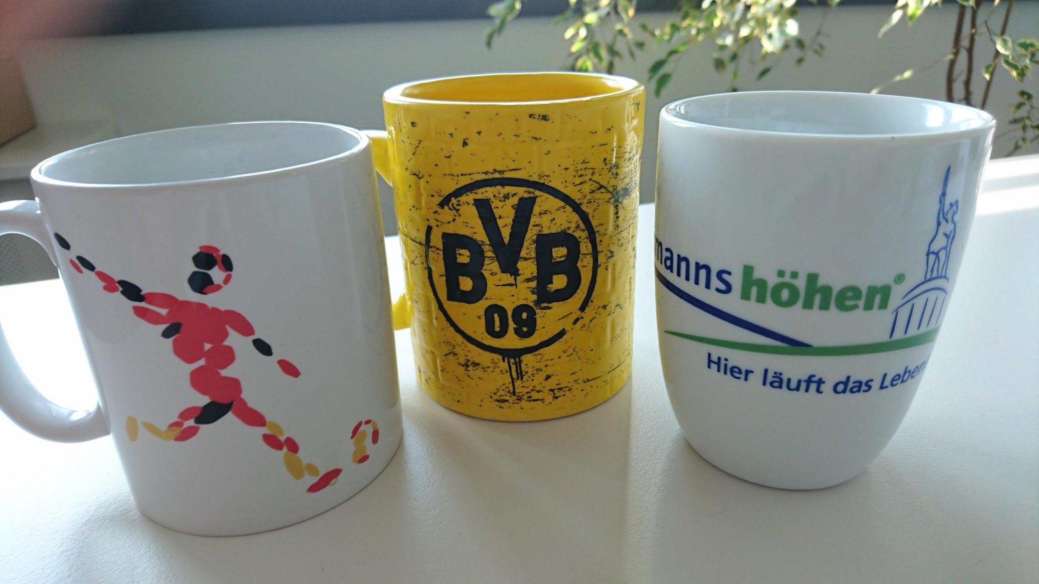 Tassen Kaffeebecher Borussia Dortmund Deutsches Fußballmuseum Hermannshöhen