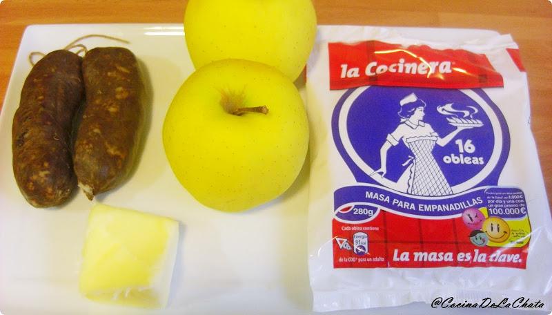 Ingredientes para los saquitos de morcilla y manzana