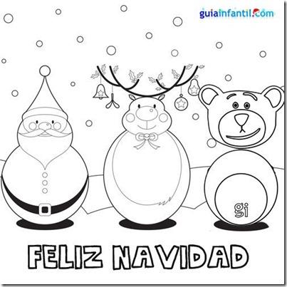 feliz navidad blanco y negro colorear