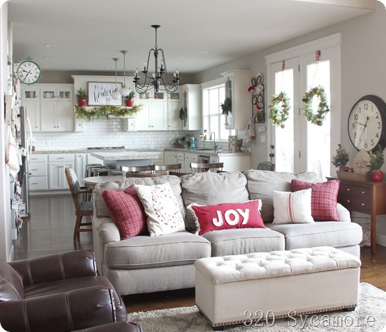 christmas kitchen family room