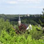 Vue sur les clochers de Malesherbes et de Buthiers