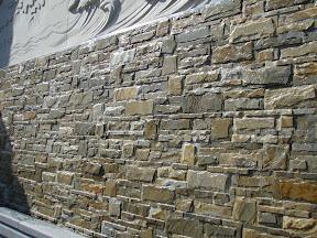 Architecture, Exterior, Horse, Relief, Showroom, Veneer, Wall Stone