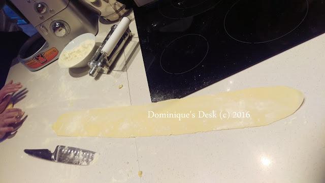 One flatten sheet of pasta