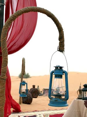 Lamps in the Desert in Dubai