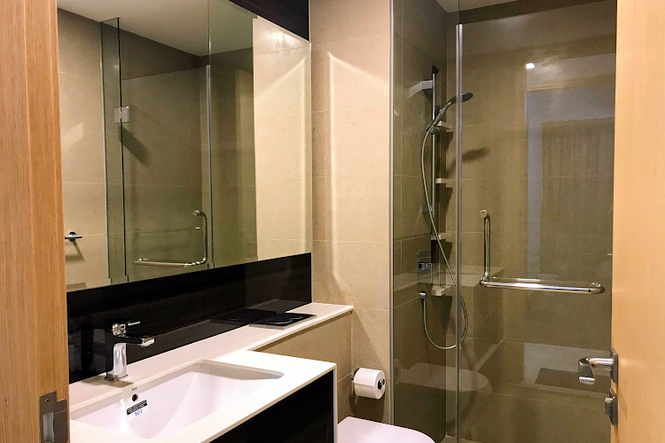 Bathroom at Commonwealth Ave Residences