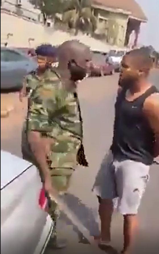 Footballer, Chikelu Ofoedu Slapped By A Military Man
