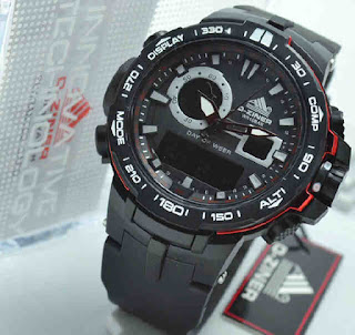 jam tangan D-ZINER DZ8085 black rubber red Original
