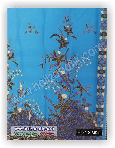 Toko Baju Batik Online, Contoh Batik, Model Batik Kerja, HM12 BIRU