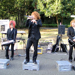 awesome band performing at yoyogi park in Shibuya, Tokyo, Japan