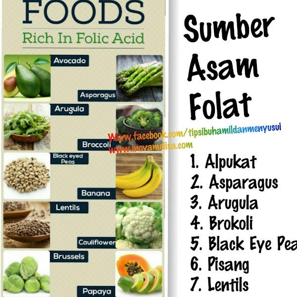 Makanan Alami Sumber Asam Folat
