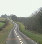 Tortuous Lincolnshire Wold A road looking like a cartoon