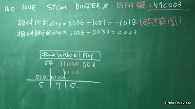 相對基底定址目的碼計算