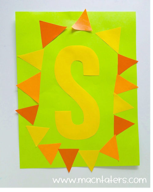 S is for Sun Letter Craft