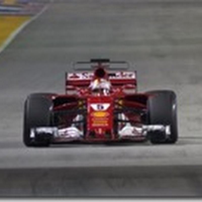 GP di Singapore: Vettel in pole. Male la Mercedes