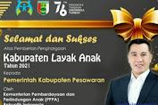 Kabupaten Pesawaran Raih Penghargaan Dari Kementerian Pemberdayaan Dan Perlindungan Anak PPP3 Sebagai Kabupaten Layak Anak