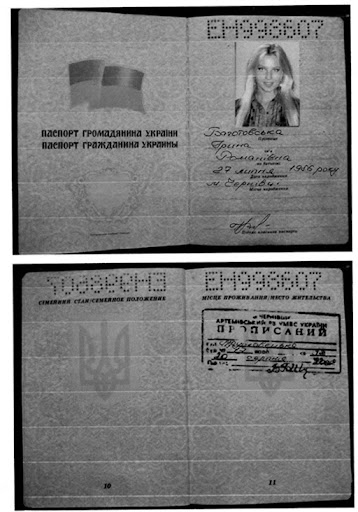 Example of not real Ukrainian passport