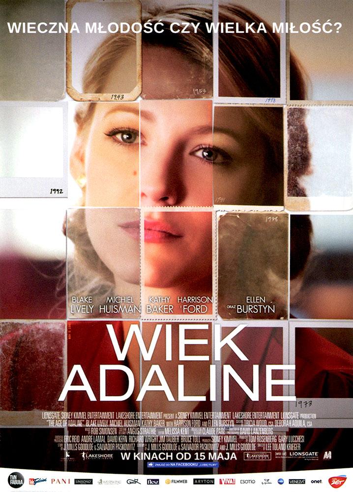 Ulotka filmu 'Wiek Adaline (przód - wersja B)'