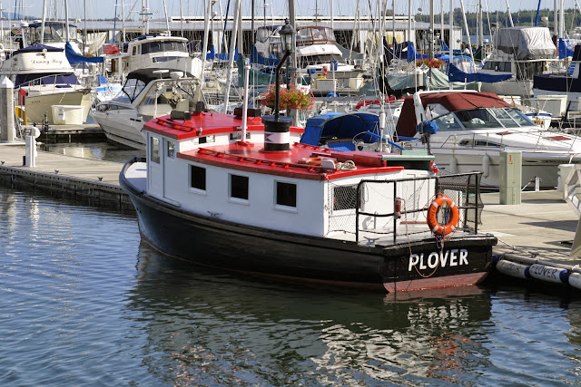 Built in 1944 to carry workmen from Blaine to the salmon cannery on Semiahmoo, the historic Plover is the oldest foot passenger ferry in the State and is listed on the National Register of Historic Places.Credit: Peter James