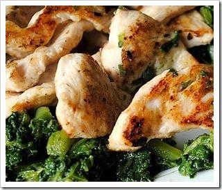 Pollo alla borragine