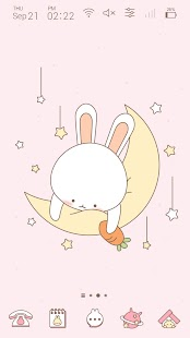 Simple Pink Moon Rabbit GIF icon theme - náhled