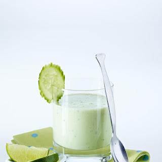 Cucumber and Avocado Lassi.