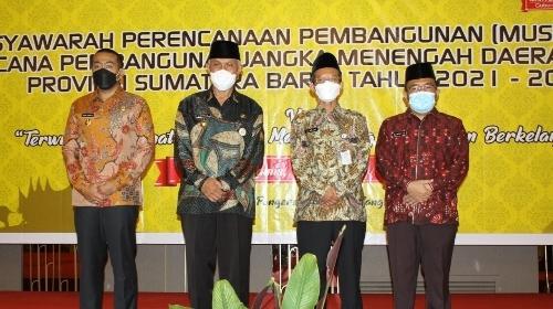 Gubernur Mahyeldi Buka Musrenbang RPJMD Sumbar Tahun 2021-2026