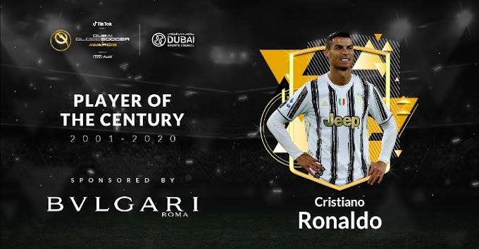 Ronaldo Wins Globe Soccer 2001-2020 Player Of The Century Award
