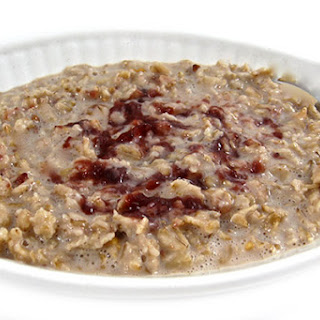 Heart Healthy, Peanut Butter and Jelly Oatmeal.