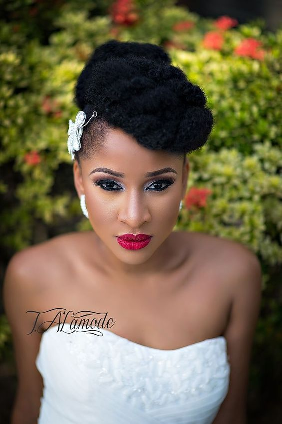 Hair:Wedding Hairstyles ForThe owners of dark skin 2017 7
