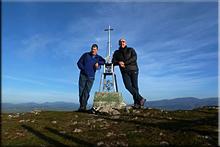 Alto del Corral-Estuñaga mendiaren gailurra 842 m. --  2015eko abenduaren 25ean